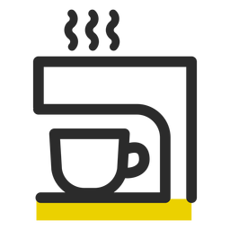 Coffee machine colored stroke icon