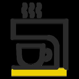 Icono de trazo de color de máquina de café