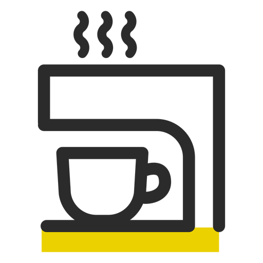 Coffee machine colored stroke icon Transparent PNG