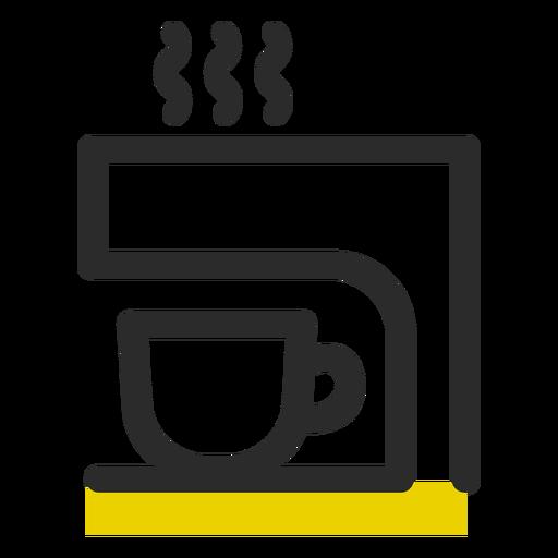 Icono de trazo de color de máquina de café Transparent PNG