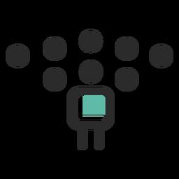 Ícone de traço colorido de equipe da empresa