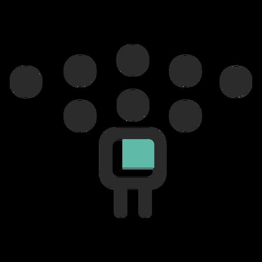 Company staff colored stroke icon