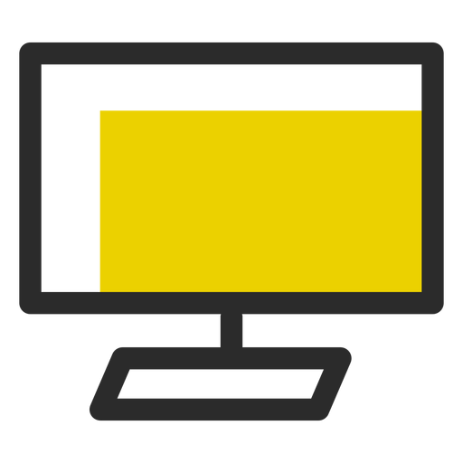 Computer monitor colored stroke icon office icons Transparent PNG