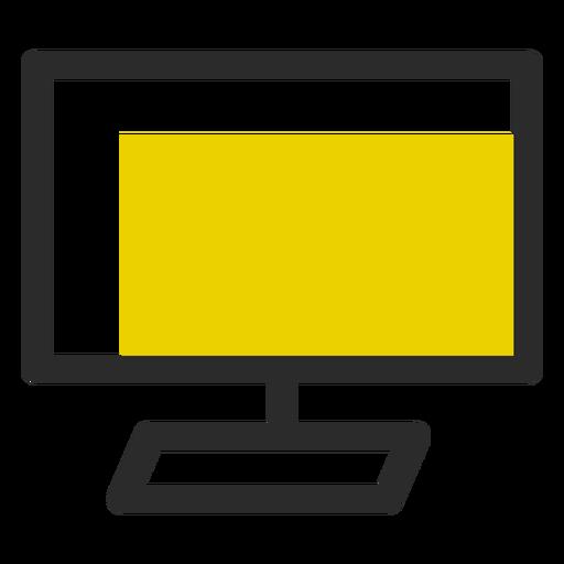 Monitor de computador ícone de traço colorido ícones de escritório Transparent PNG
