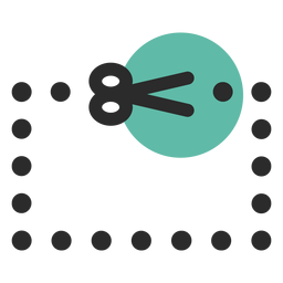 Coupon colored stroke icon