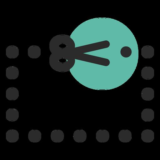 Ícone de traço colorido de cupom Transparent PNG