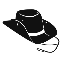 Ícone plana de chapéu de cowboy