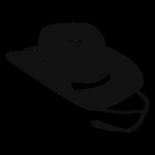 Ícone plana de chapéu de cowboy Transparent PNG