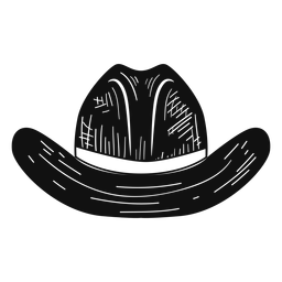 Cowboy hat sketch icon