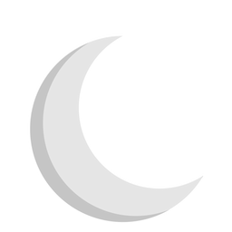 Lua crescente ícone plana