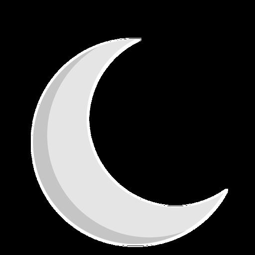 Icono plano de la luna creciente Transparent PNG