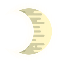 Ícone da lua crescente