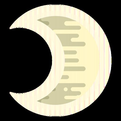 Icono de la luna creciente Transparent PNG