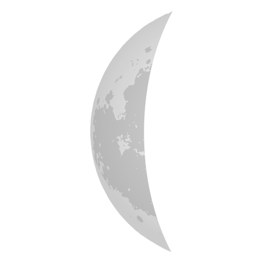 Crescent moon realistic icon Transparent PNG