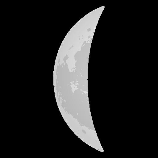 Icono realista de la luna creciente Transparent PNG