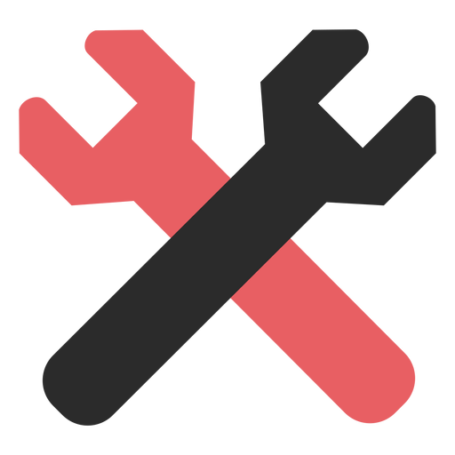 Crossed wrenches colored stroke icon