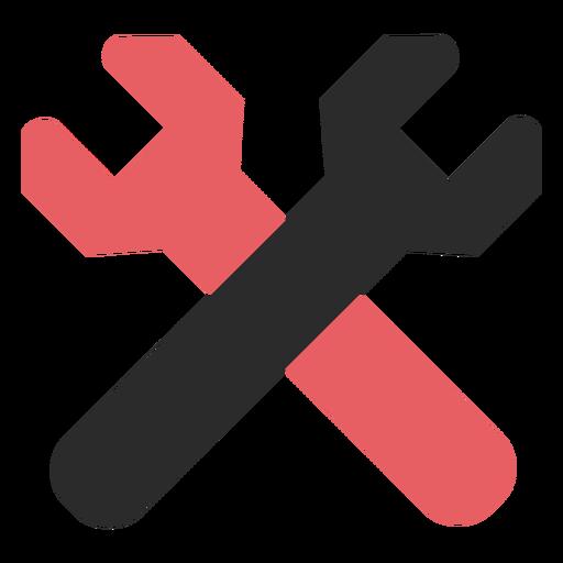 Icono de trazo de color de llaves cruzadas Transparent PNG