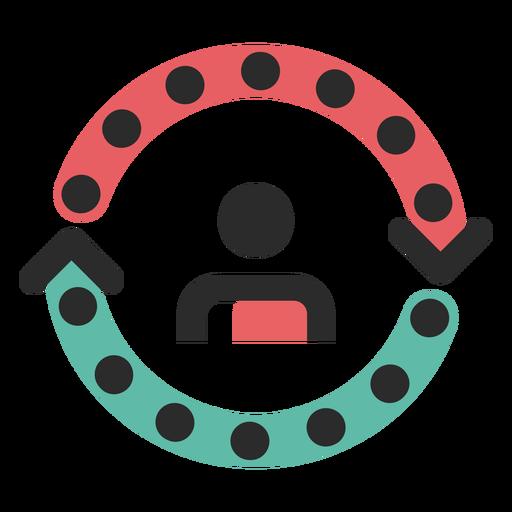 Ícone de traço colorido do ciclo do cliente Transparent PNG