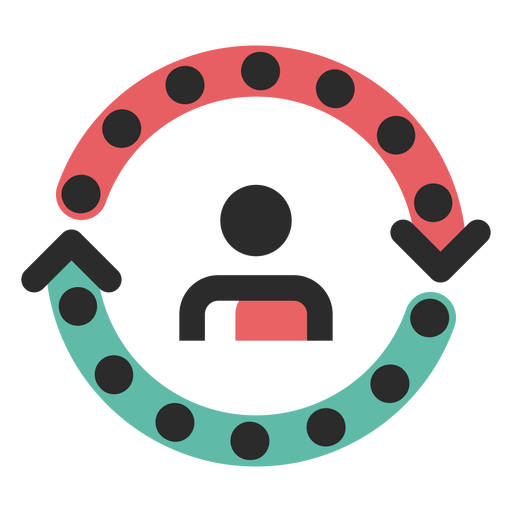 Customer cycle colored stroke icon Transparent PNG