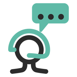 Customer service colored stroke icon