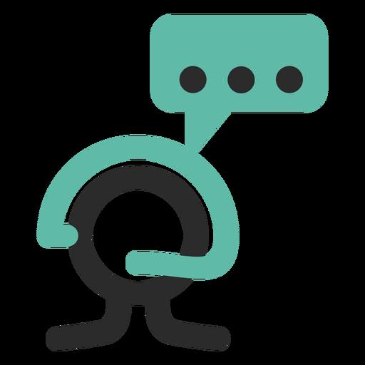 Ícone de traço colorido de serviço ao cliente Transparent PNG