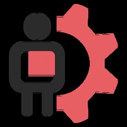 Ícone de traço colorido de configurações do cliente
