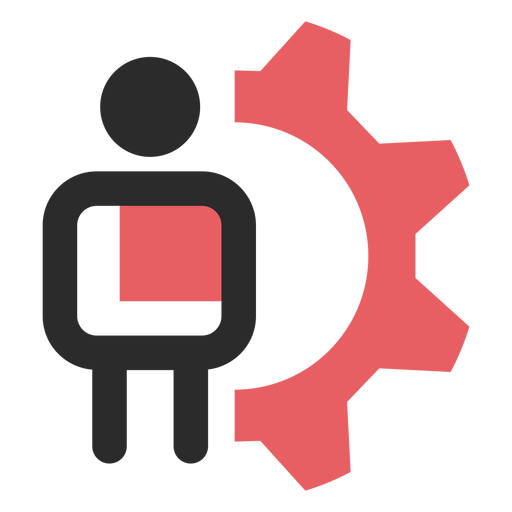 Customer settings colored stroke icon Transparent PNG
