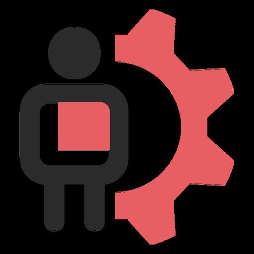 Icono de trazo de color de configuración de cliente Transparent PNG