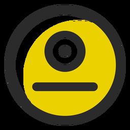 Emoticon de acidente vascular cerebral em cores Cyclops