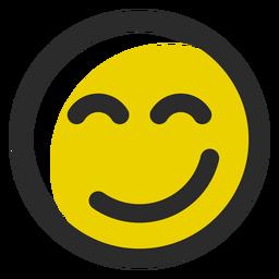 Erfreut farbiger Strich-Emoticon