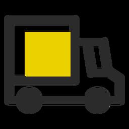 Ícone de traço colorido de caminhão de entrega