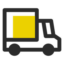 Delivery truck colored stroke icon