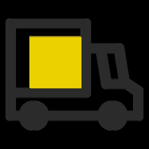 Ícone de traço colorido de caminhão de entrega Transparent PNG