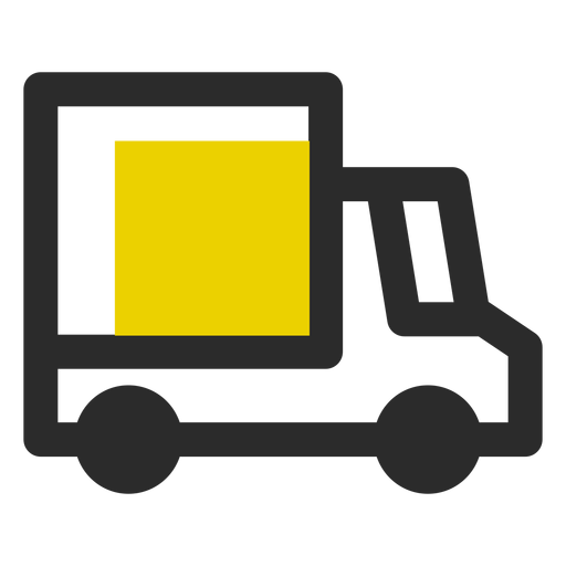 Delivery truck colored stroke icon Transparent PNG