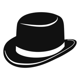 Derby hat flat icon