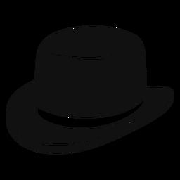 Icono plano de sombrero derby
