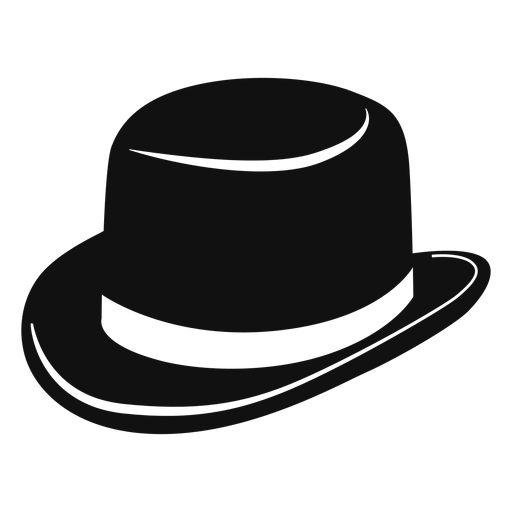 Derby hat flat icon Transparent PNG