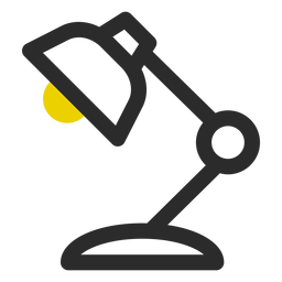 Desk lamp colored stroke icon