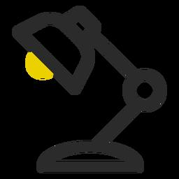 Ícone de traço colorido de lâmpada de mesa