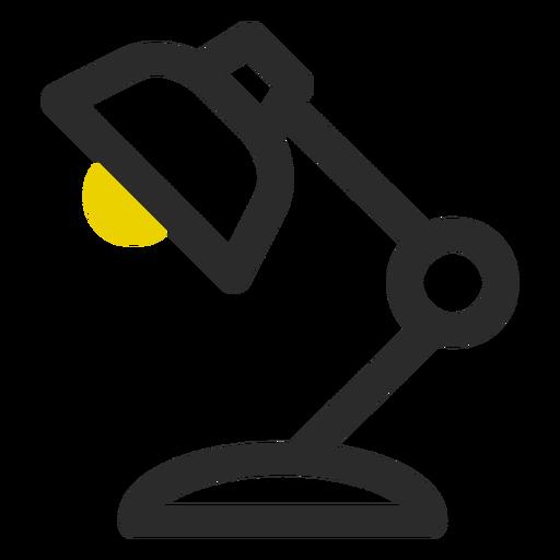 Lámpara de escritorio coloreada icono de trazo Transparent PNG