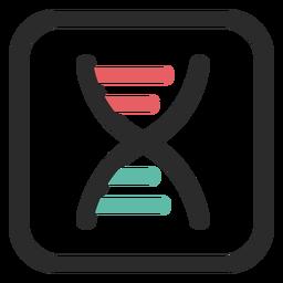 Icono de trazo coloreado de cadena de ADN