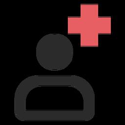 Arzt farbige Strich-Symbol