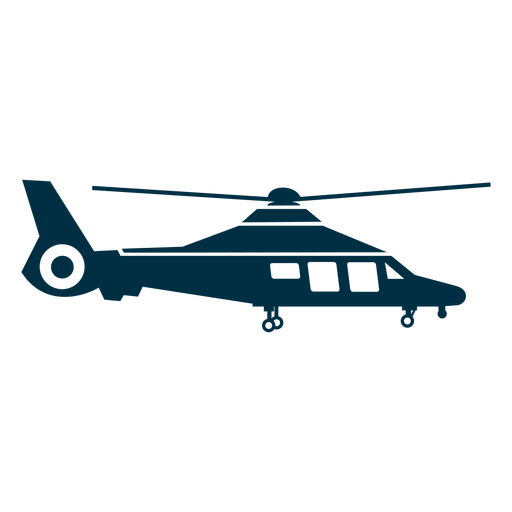 Dolphin helicopter silhouette Transparent PNG