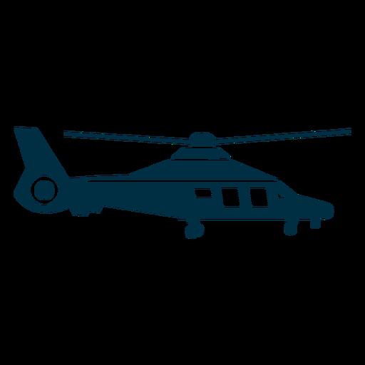 Silueta de helicóptero con delfines. Transparent PNG
