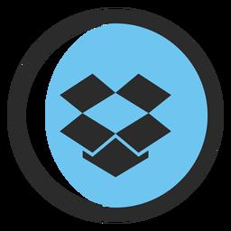 Dropbox farbiges Strichsymbol