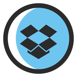 Icono de trazo coloreado de Dropbox