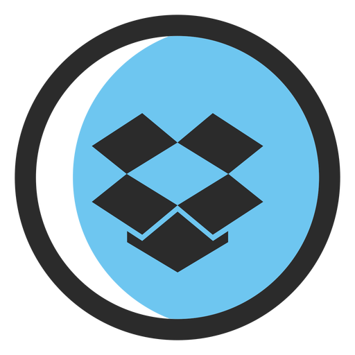 Dropbox colored stroke icon Transparent PNG
