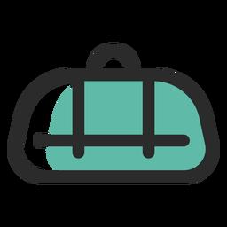Bolsa de lona coloreada icono de trazo