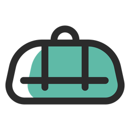 Duffel bag colored stroke icon