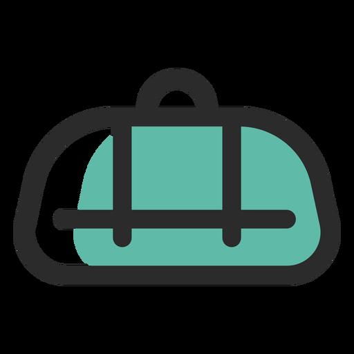 Bolsa de lona coloreada icono de trazo Transparent PNG